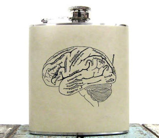 Ma Bicyclette: Buy Handmade | Whimsy and Ink Hip Flasks - Brain Hip Flask