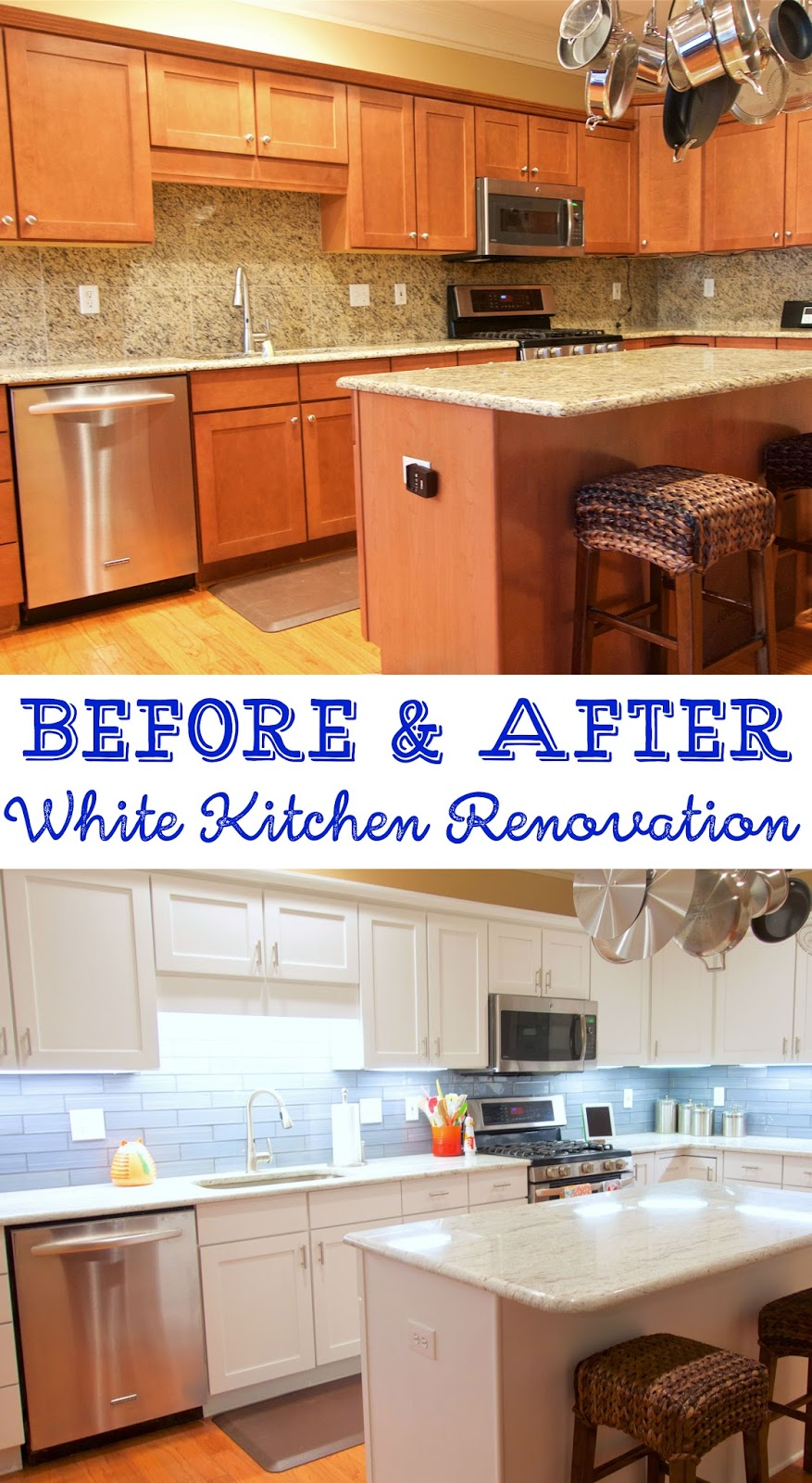 White Kitchen Remodel Before And After Before And After White Kitchen Renovation  Plain Chicken