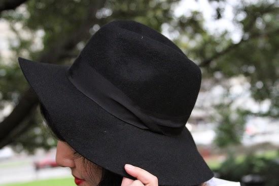 Express Black Wool Felt Hat