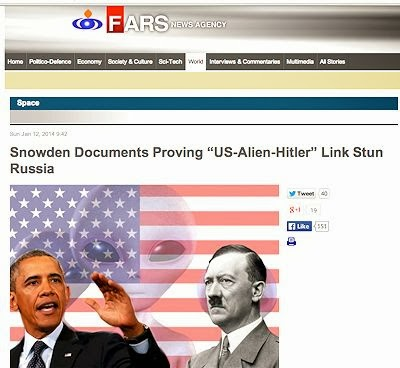 Nazi Space Aliens Run U.S., says Iranian News Agency
