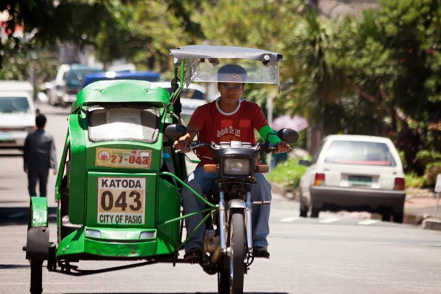 Tricycle Driver on the streets of Manila