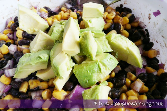 Blackbean, Sweetcorn and Avocado Salsa at The Purple Pumpkin Blog