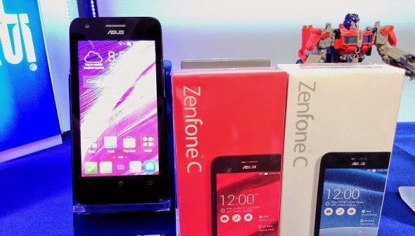 Asus Zenfone C, Spesifikasi HP Asus Terbaru Prosesor Dual Core 1,2 GHz Harga 1,2 Juta
