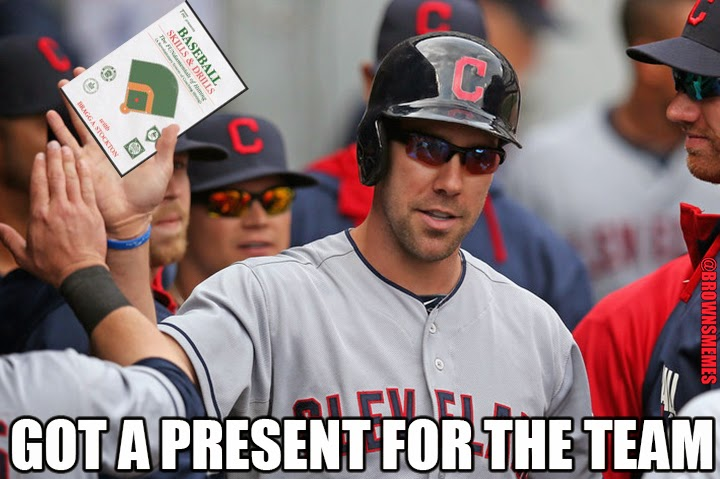 Good Guy David Murphy got a present for the Indians