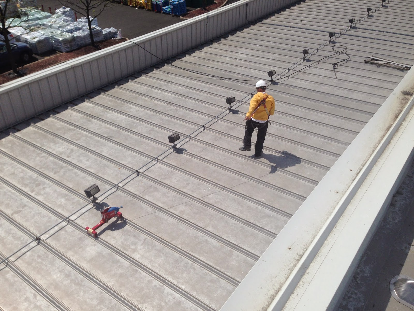 Nelson Is Using A Standing Seam Roof Anchor As His 5,000 Lb Fall Protection  Anchorage Point Along With A 30u0027 Cable Retractable. Great Job Nelson!