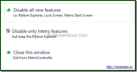 How to disable windows8 metro UI feature