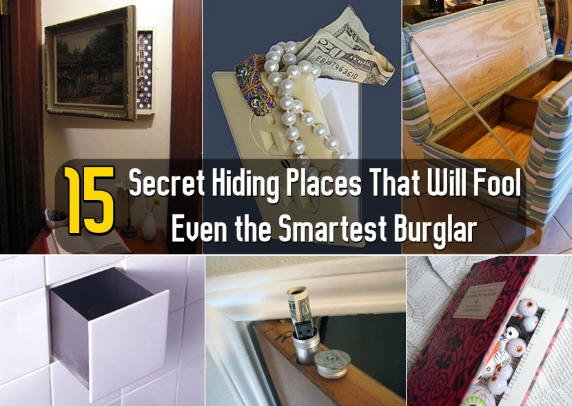 15 Secret Hiding Places That Will Fool Even the Smartest Burglar