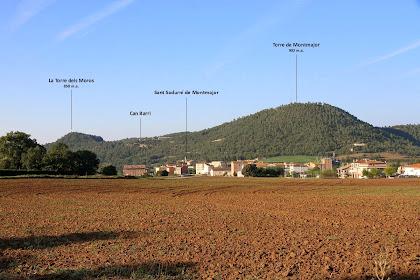 Panoràmica de Montmajor obtinguda des del trencall del Camí de Montclar
