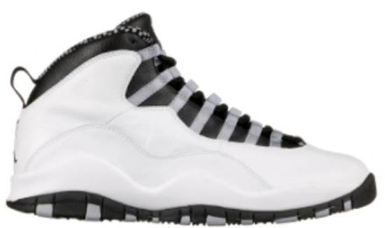 the best attitude b9940 77166 Air Jordan 10 Retro (05 07 2005) 310805-101 White Black-Light Steel  Grey-Varsity Red  125.00