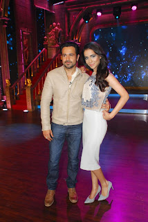 Humaima Malick Looks spicy on the Sets of ZEE TV Indias Best Cinestar Ki Khoj with Emran Hashmi