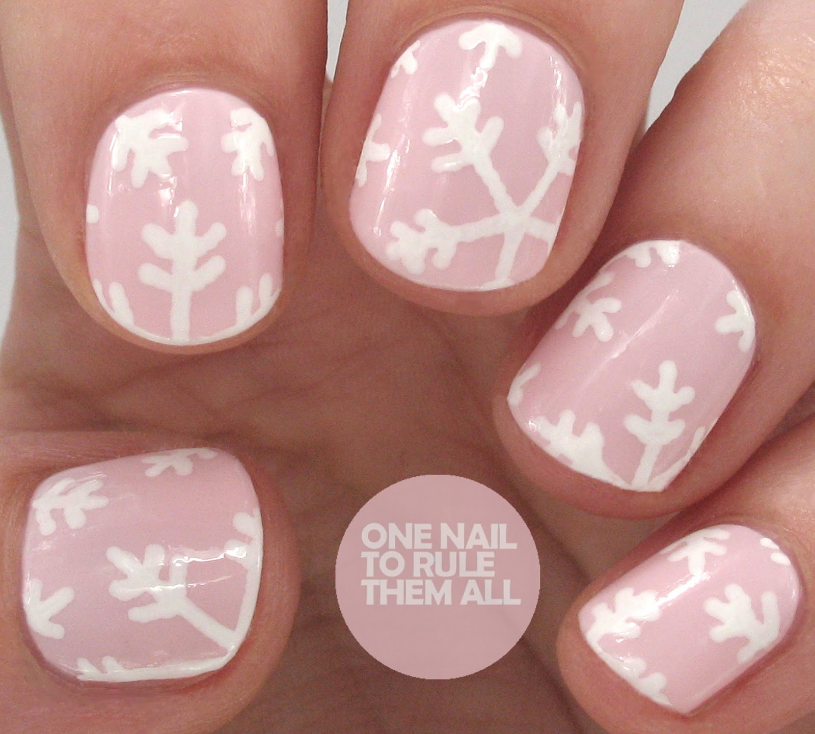 One Nail To Rule Them All Barry M Nail Art Pens Review: One Nail To Rule Them All: Pink Snowflakes For Barry M