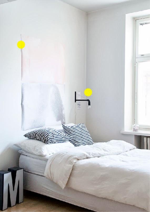 muitas ideias para apartamento pequeno - espaços coloridos - luminária de PVC