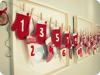 felt mitten advent calendar tutorial