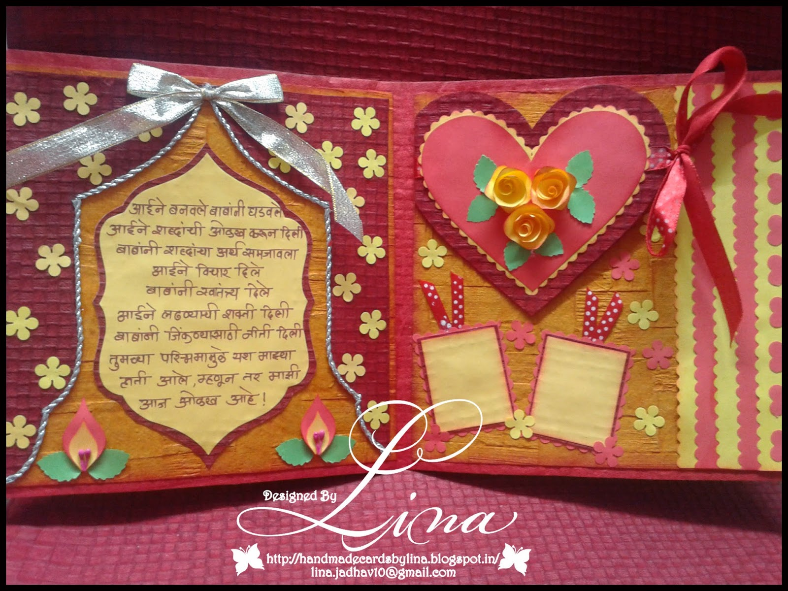 Lina s handmade cards wedding anniversry card for parents