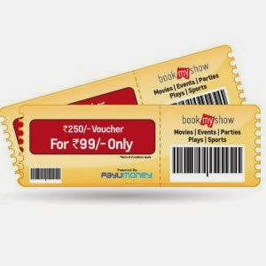 Shopclues offering BookMyShow Rs 250 voucher for Rs. 99 only
