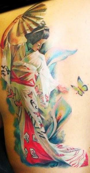 Gambar Tattoo Geisha Jepang