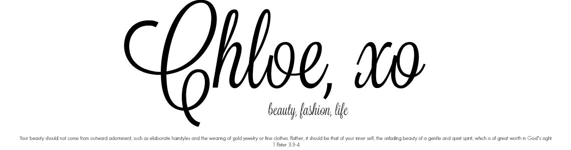 Chloe, xo