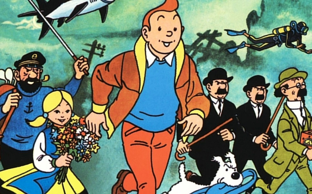 Tintin and Snowy cartoon picture 2