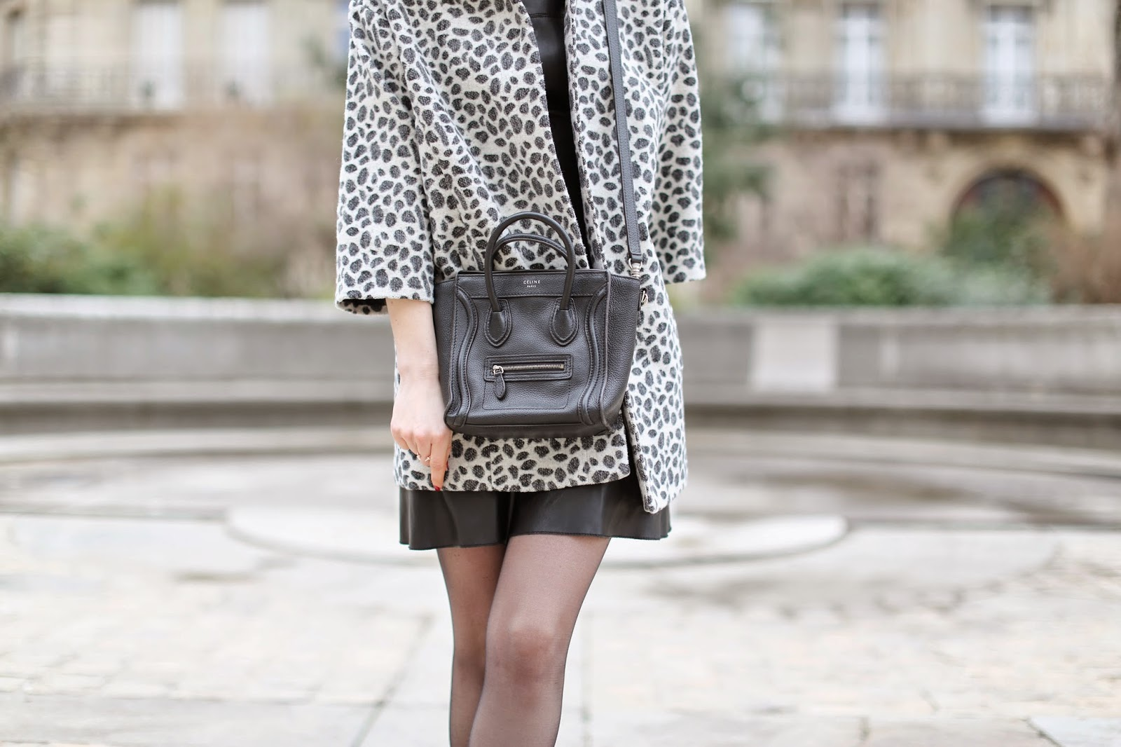 leopard, leather, zara, tabitha simmons, chanel, céline, paris, streetstyle