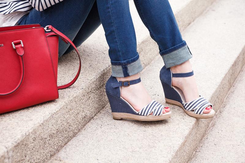 Bild Outfit, Streifen, Streetstyle, Look, Fashionblogger, Modeblog, Maritim, Summer, Querstreifen, Sailor, Matrosen, Hannover, Blogger, Fashion, Trend, Mode, Fotografie, gestreift, Lookbook