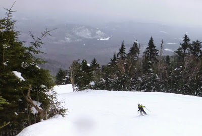 Daniel skiing Hawkeye, Gore Mountain, Saturday 3/07/2015.  The Saratoga Skier and Hiker, first-hand accounts of adventures in the Adirondacks and beyond, and Gore Mountain ski blog.