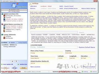 Earth Alerts 2011.1.14 (FreeWare) 3