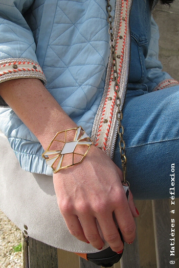Manchette blanche Anne Thomas bijoux Palais Royal
