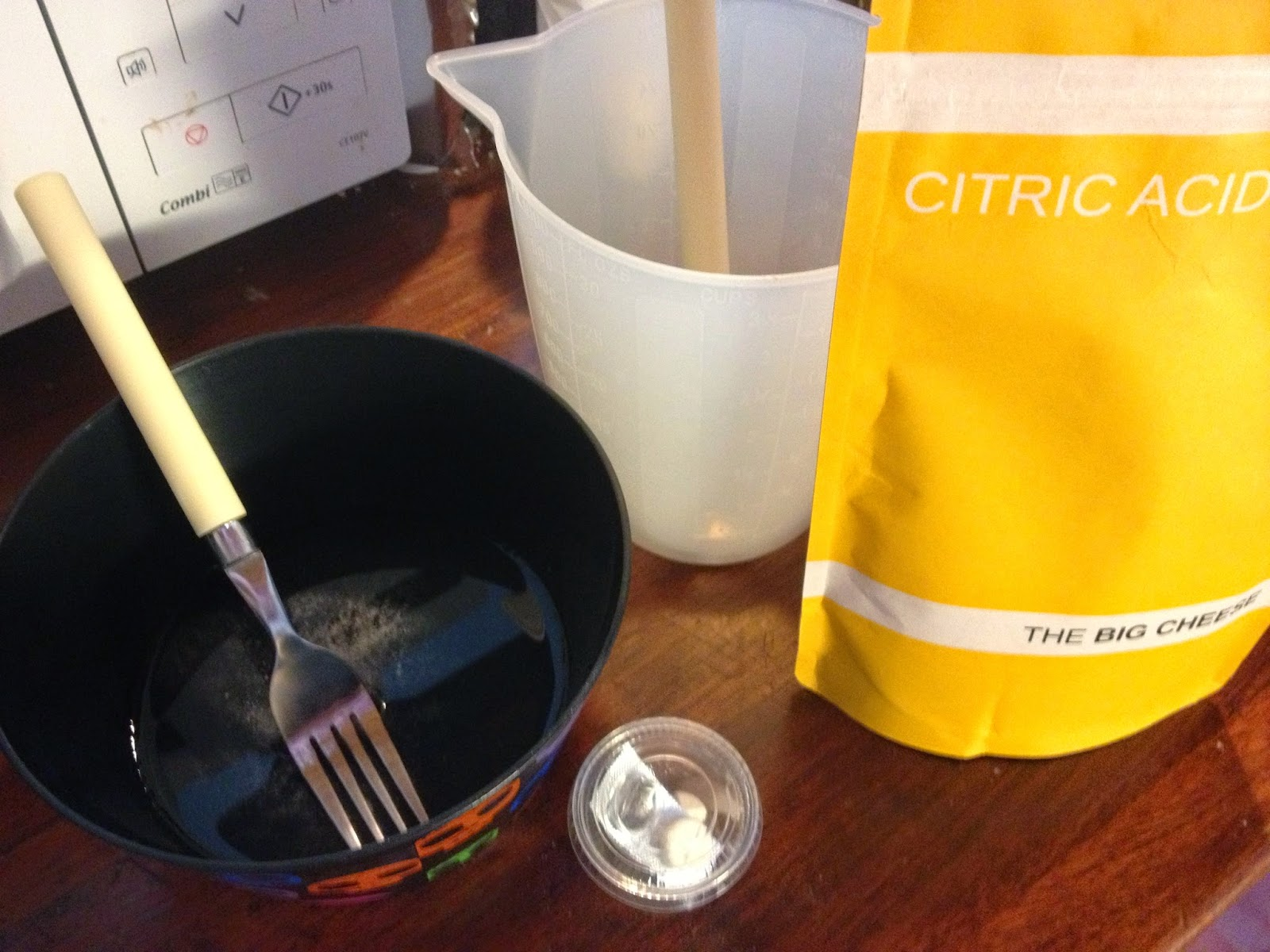rennet and citric acid solutions