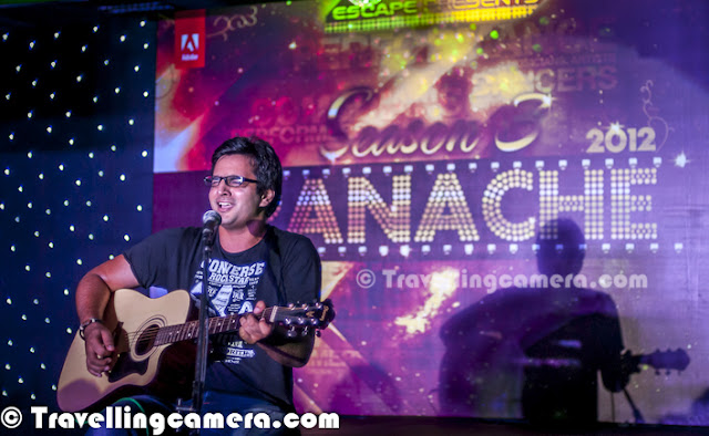 Yesterday most of the folks at Adobe Noida had great fun during Adobe Panache 2012, where many talented folks performed in front of huge audience. It was a wonderful evening with new faces singing on karaoke/guitar, dancing on different beats... Some of the guest performances happened which included stand-up comedy as well. Let's check out this Photo Journey to know more about it... The very first performance was a dance by two girls.. They were dancing on same song with in different styles... One of them was following classical steps and the other was continuing western steps on same beats... It was interesting to see two different genres of dance on same song at same point of time... Whole performance was planned is nice way and many times, the flow of dance was changed to highlight some of the steps from both styles...The second performance was a beautiful song... It takes a lot of courage to perform in front of Adobe Audience and especially singing is something that you need to plan in better way... Which song and for how much time :) All these faces were new to me, apart from guest performers. In fact, today we were discussing the same during lunch that Adobe India campus has grown a lot in last 3 years... Every-year, many new faces join this campus..Such events are important for any corporate and everyone loves to be part of such evenings in office..Folks who kept everyone busy in appreciating all participants and sung few songs for the audience...Hava-Hava, ae hava..Not sure if you have seen this face before or not, but he is one of the Adobe talent who was part of TV show called 'Ratan ka Rishta' and he was winner of that show... He is a mind blowing stand-up comedian and during Adobe Panache 2012, he was a guest performer not a competitor. Abhinav Sharma..Here is another guest performer, Nishtha Gupta ... Nishtha is popularly known for her wonderful dance... And you might have guessed that we say these folks 'Guest Performers'.. Because they are not allowed to participate :) ... as it can demotivating for others, if people like Nishtha & Abhinav get the prizes every-year Another singer of the evening... I loved his performance during second round which was pure vocal without any instrumental or Karaoke music..Dance performer who was second winner of the eveningSourabh - Winner of Adobe Panache 2012 !!! A great singer and of course his guitar helps in making the performance better !!! In this Photo Journey, I am missing one of the Guitarist who was playing Guitar as well as Mouthorgan at the same time... Everything he did was stunning and it was first time I witnessed such performance...Third winner of the evening !