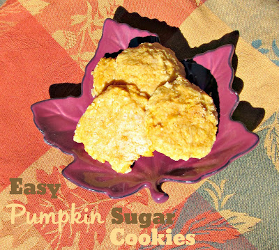 Easy Pumpkin Sugar Cookies! Perfect for any fall get together! | From It's Always Ruetten