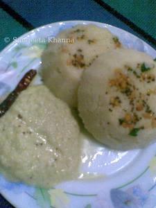 rawa idli and amla coconut chutney