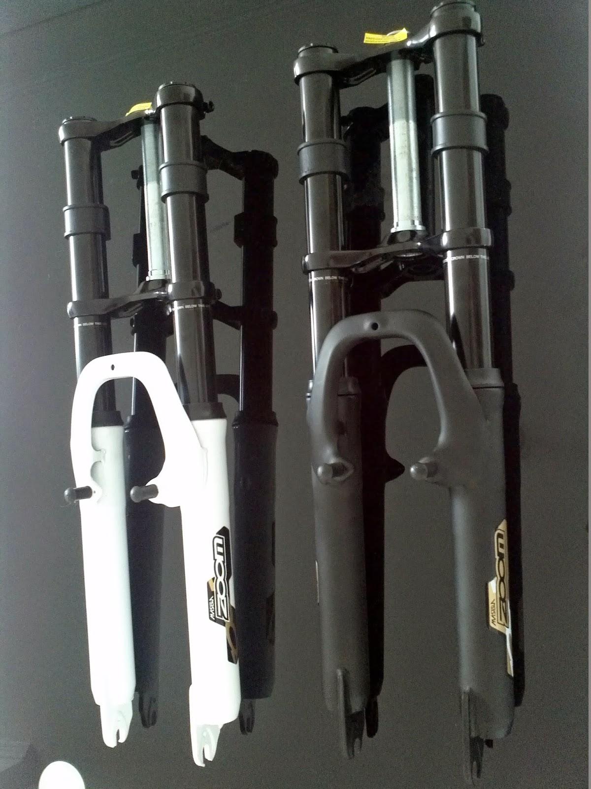 Zoom 26 triple tree bicycle fork shocks suspension 1 for Suspension triple