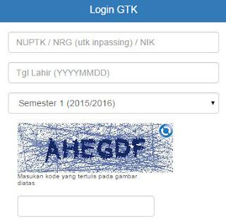 Login GTK Cek SKTP Tunjangan Sertifikasi Profesi Guru 2015 Terbaru