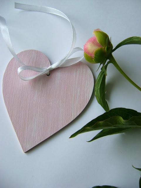 serce decoupage różowy peonie peonies