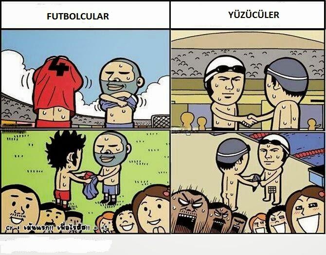Gülme Krizi Futbol Ve Yüzme Arasındaki Fark Karikatürü