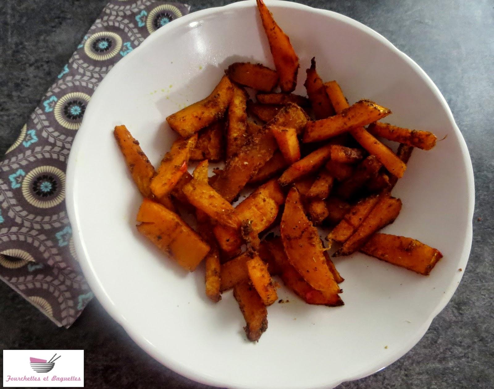 Fourchettes et baguettes frites de potimarron aux pices - Frites pour friteuse au four ...