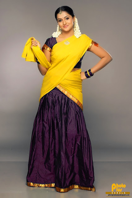 ... NAMBEESAN MALAYALM CUTE ACTRESS IN YELLOW HALF SAREE HQ PHOTOS ONLINE
