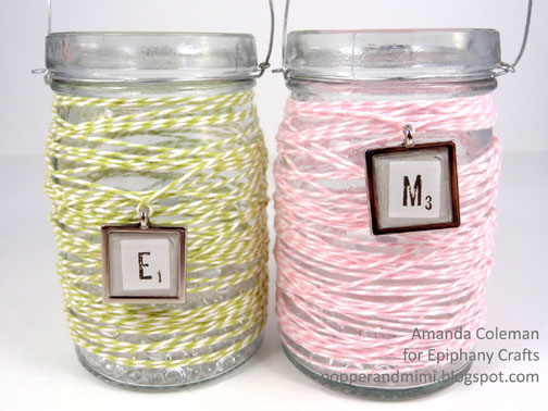 Twine Wrapped Jar Lanterns | popperandmimi.com