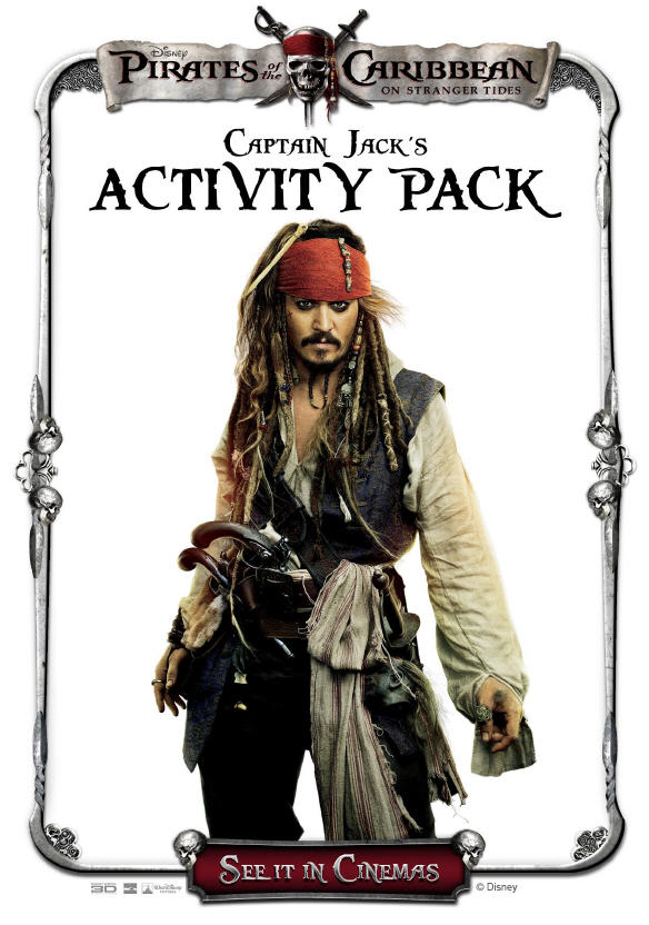 pirates of the caribbean activity pack and other pirate activities