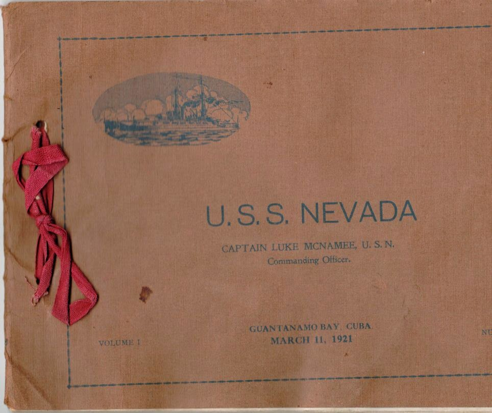 USS Nevada Fifth Anniversary March 11, 1921 souvenir booklet