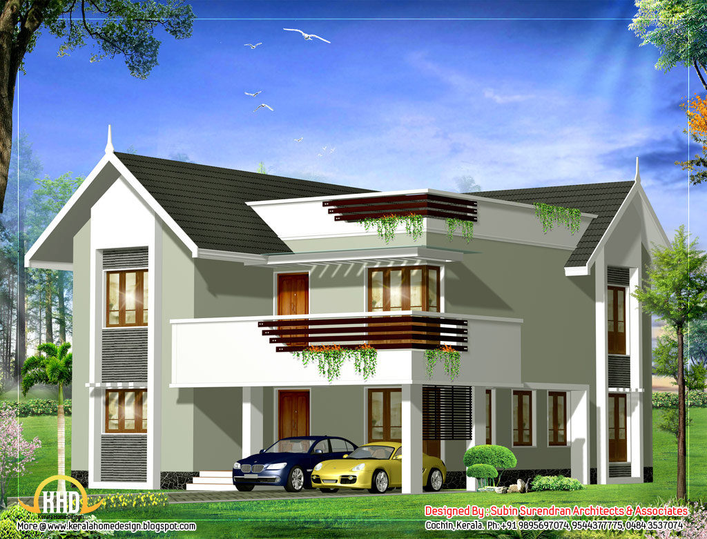 3d house view modern house 3d view home design