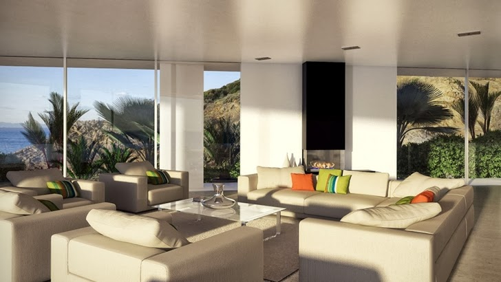 Living room furniture in Modern villa by Studio Aristo