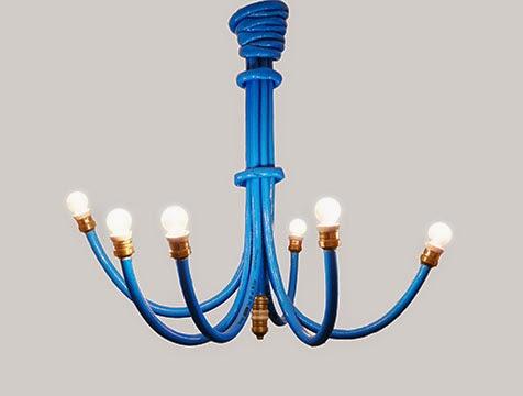 Icono interiorismo lamparas originales con mangueras de - Lamparas originales ...