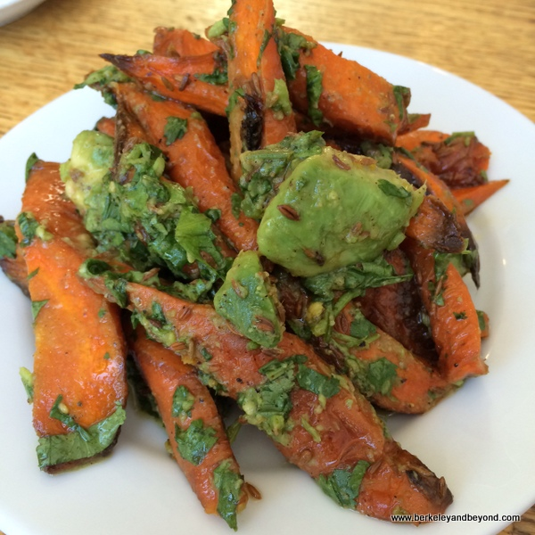 carrot-avocado salad at Huckleberry Cafe in Santa Monica, California