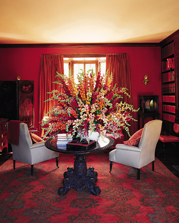 Vibrance And Chaos Red Hot Chili Pepper Colored Rooms