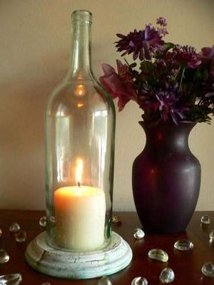 Halloween craft ideas for kids glass water bottlesfalcon for Clear wine bottle centerpieces