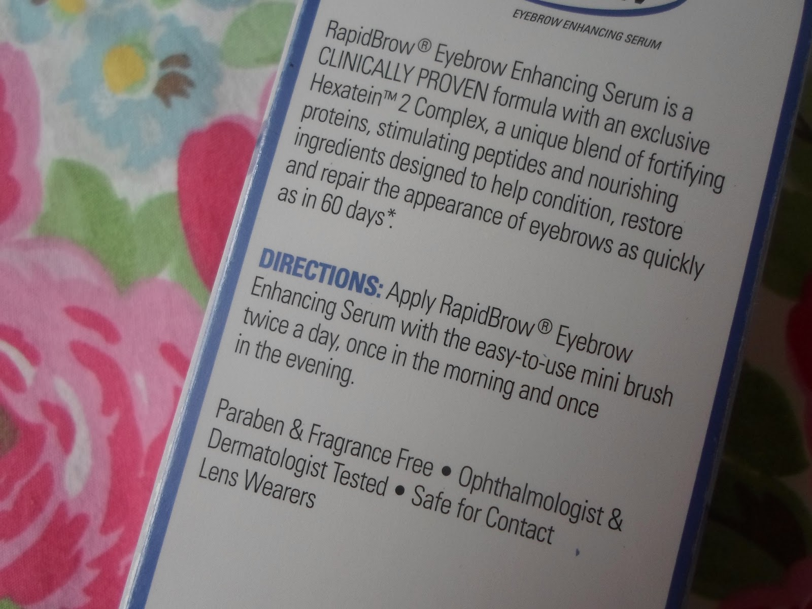 Ellies Ramblings Review Rapidbrow Eyebrow Enhancing Serum