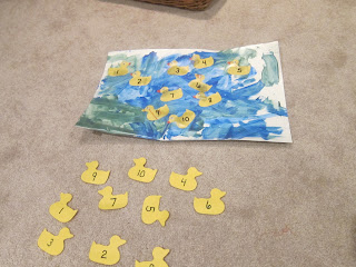 eric carle ten little rubber ducks, 10 little rubber ducks, duck numbers, duck matching, duck lesson plan, preschool duck lessons