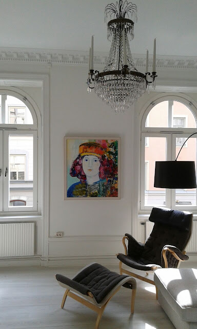 fantastic palace in Stockolm with Amara Dacer painting on the wall