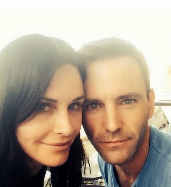 Courteney Cox and now fiance, Johnny McDaid